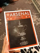 Arsenal Vs Lincoln City FA cup 2017 Official Matchday Programme