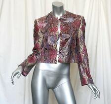 BILL BLASS Vintage Iconic SNAKESKIN+CRYSTAL Jacket MUSEUM PIECE Cropped Coat 6