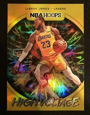 2019-20 Panini NBA Hoops LeBron James High Voltage Lakers