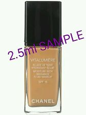 CHANEL VITALUMIERE FLUIDE DE TEINT Foundation *SAMPLE* 2.5ml ~ Shade 20 clair