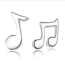 Lovely Silver Musical Notes Ear Stud Earrings Women's Fashion Jewelry