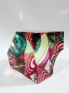 Blake Street Art Glass Denver Kit Karbler Michael David Cube Sculpture