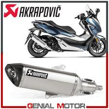 Auspuff Schalldaempfer Zugelassen Inox Akrapovic Honda Forza 300 2018 > 2019