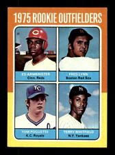 1975 Topps #622 ROOKIE OUTFIELDERS FRED LYNN EX-MT *9s