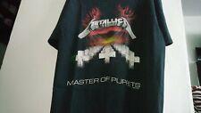 metallica t shirt 1987 master of puppets vintage