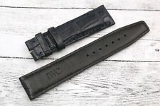 Watch IWC STRAP Blu Coccodrillo 20mm Elegante Portoghese Fatto a Mano Nuovo Cool
