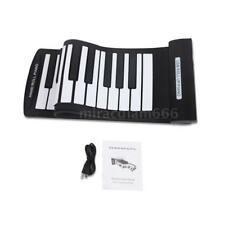 61 Keys Flexible Roll-Up Piano USB MIDI Electronic Keyboard US Shipping D7O2