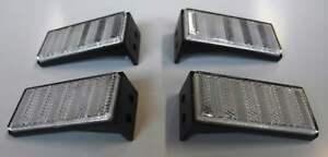 4 x Seitenstrahler Reflektor weiß mit Halter für PKW Anhänger seitlich