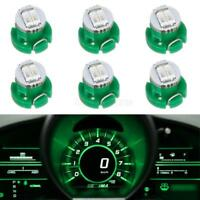6x Green T3 Neo Wedge SMD LED HVAC Climate Control Radio Switch Lights Bulbs