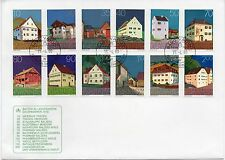 LIECHTENSTEIN 1980 BUILDING STAMPS 12v on COVER Ref:PP226