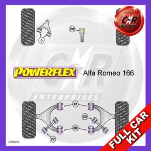 Alfa Romeo 166 (1999-2007) Powerflex Complete Bush Kit