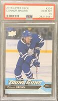 2016 2017 Connor Brown PSA 10 YOUNG GUNS RC ROOKIE UPPER DECK YG Maple Leafs