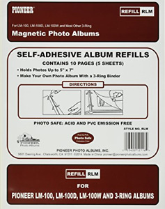 Refill Pages for LM-100, LM-100D and LM-100W Photo Albums, 10 Pages 5 Sheets