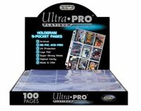 ULTRA PRO 9 POCKET HOLOGRAM PLATINUM SERIES PAGES for TRADING CARDS x 10