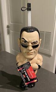 WWF WWE The Rock Dwayne Johnson 3D Big Sipper Travel Water Bottle