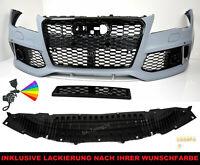 Für Audi A7 C7 Stoßstange 11-14 Kühlergrill RS7 Look Frontstoßstange Diffusor T7