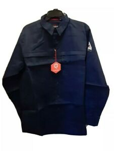 Bulwark FR iQ Series 2112  Flame Resistant Work Shirt Men's Large Dark Blue New