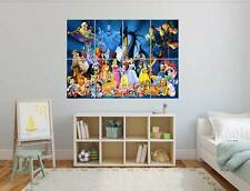 Walt Disney All Characters Personnages Diney Grand format A0 Large Print