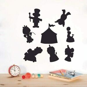 Amusement Carnival Silhouette Vinyl Wall Art Décor Sticker for Home Room Decals