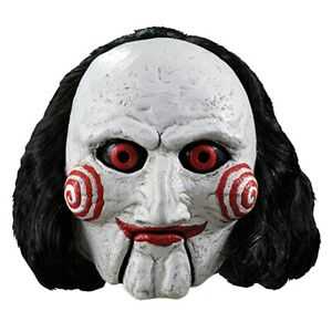 Saw Mask Billy The Puppet Jigsaw Scary Halloween Costume Fancy Dress