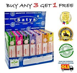 Satya Insence Sticks Genuine Nag Champa Incense Sticks Joss 15g from .99p ❤️