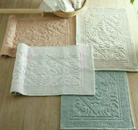 Allure Absorbent Hand-Woven 100% Cotton Jacquard Anti Slip Bath Mat 50 x 80cm