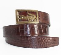 Brown Genuine Alligator Crocodile Leather Skin Men/'s Belt WITHOUT JOINTED
