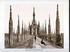 B Stampa- Print Le guglie del Duomo di Milano fine '800