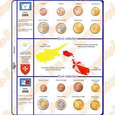 Master Phil Fogli serie 8 monete Euro Cipro e Malta 2008