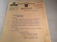 1906 Boston Letter - Underwood Typewriter Co - Typist Employ. Dept. - NM - P1725