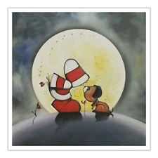 Santoro Hoodies Greeting Card - Moonlight Kisses - Hoodie With Dog - Sg-Hd-008