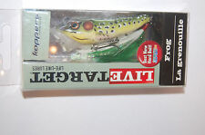 """koppers live target surface lure bass popper frog 2 1/2"""" 1/4oz green yellow"""