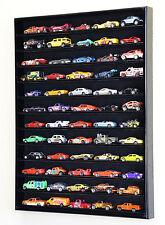 60 Hot Wheels 1:64 Scale Diecast Display Case Cabinet Wall Rack NO DOOR FRAME