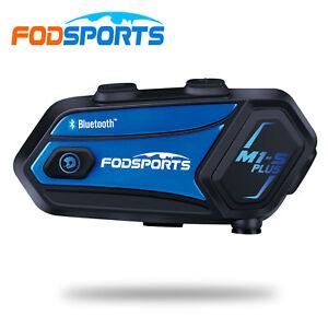M1-S Plus 2000M Motorcycle Intercom 8 Way Helmet Headset Bluetooth Music Sharing