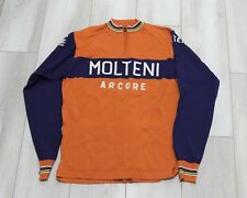 MOLTENI MENS LIGHTWEIGHT WOOL LONG SLEEVED CYCLING JERSEY SHIRT RARE XL NEW