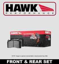 FRONT+REAR SET HAWK Performance Street 5.0 Brake Pads G35 350Z w/BREMBO HPP51702