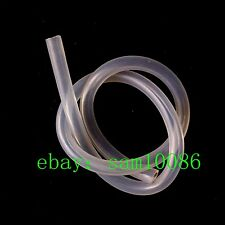 Silicon Rubber Hose,Food Grade,6*10,OD 10mm,ID 6mm,3 Meter,Transparent,Tube.lab