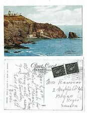 CORNISH POST CARD PRINTED LIZARD POINT AND POLBREAM COVE