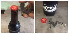 """Trucker Girl Bottle Opener Key Chain - 1/4"""" Steel - Gift - Funny"""
