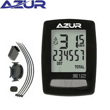 Azur 12Z Wireless Cycle Computer - 12 Functions - Black