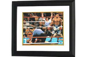 Sugar Shane Mosley signed Boxing 16X20 Photo Custom Framed - Leaf Authentics
