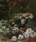 Spring Flowers Claude Monet Wall Art Print Canvas Giclee Painting Reproduction S