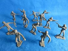 """MARX toy soldiers WWII GI's 6"""" figures reduced to 54MM 12 in 6 poses"""