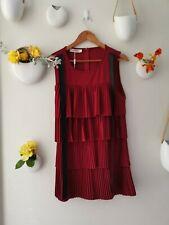 RED MATERNITY BREASTFEEDING NURSING DRESS SERAPHINE STYLE VINTAGE CHARLESTON 10
