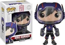 "BIG HERO 6 Hiro Hamada 3.75 ""Vinyl figura POP Pompon HEAD Funko"