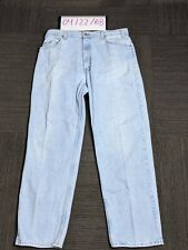 Vintage Levis Silver Tab Denim Jeans Light Wash Made in Usa 38x32