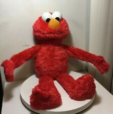 "Big Elmo Talking Laughing Plush Sesame Street Stuff Toy 22"" Tall"