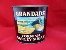 Grandads Metal Tin Cornish Barley Sugar Cornwall England Vintage Furniss Co.