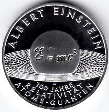 10 Euro Albert Einstein 100 J. 2005 Polierte Platte Silber 925/-