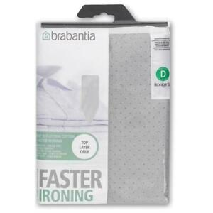 Brabantia Ironing Board Cover - Size D - Metallised - 135cm x 45cm - Silver